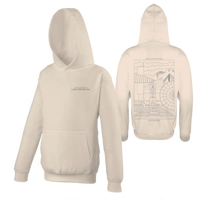 JP Cooper: Nude Pullover Hoodie (Manchester Skyline)