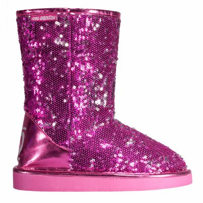 One Direction: 1D Girls Pink Sequin Boot