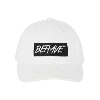 I Play Dirty: Behave Logo White Cap