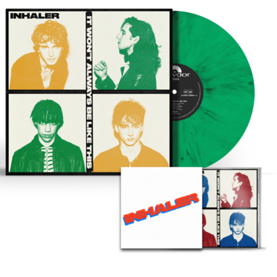 Inhaler: IT WON'T ALWAYS BE LIKE THIS: LIMITED EDITION SIGNED IRISH GREEN VINYL + SRAY PAINTED CD