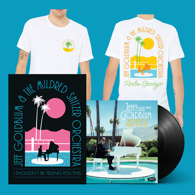 Jeff Goldblum And The Mildred Snitzer Orchestra: I Shouldn't Be Telling You This LP, Daytime T-shirt & SIGNED Print Bundle