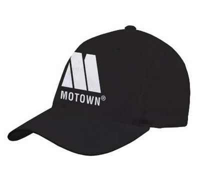 Motown: Embroidered Motown Black Cap