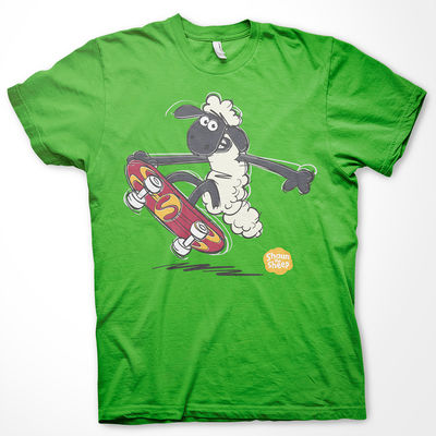Shaun the Sheep: Shaun the Sheep Skateboard Cotton Kids T-Shirt