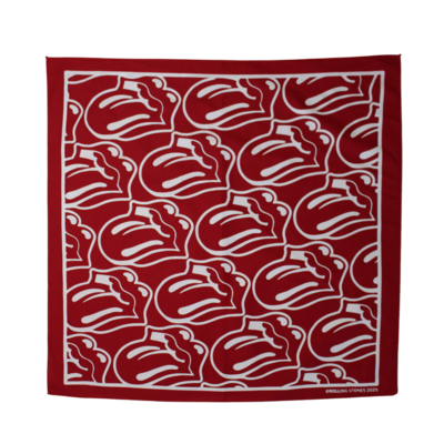 The Rolling Stones: Red / White Tongue Bandana