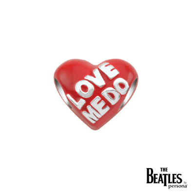 The Beatles: 925 Love Me Do Red Hearts Bead