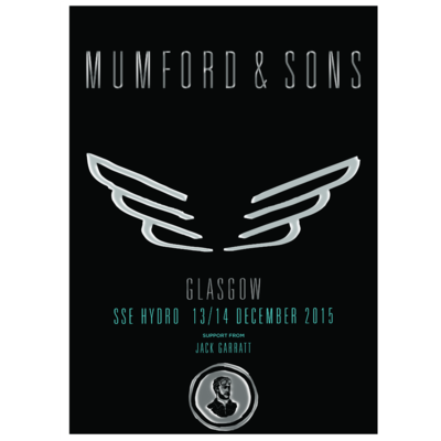Mumford & Sons : Glasgow, UK, 2015 Shows Screen Print