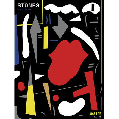 The Rolling Stones: Warsaw Lithograph