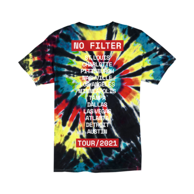 The Rolling Stones: No Filter 2021 Tie Dye T-Shirt