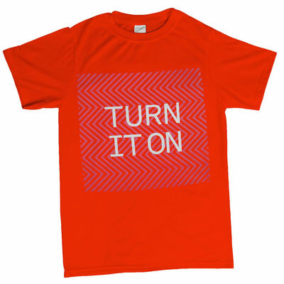 Pet Shop Boys: Turn It On Fluro T-Shirt
