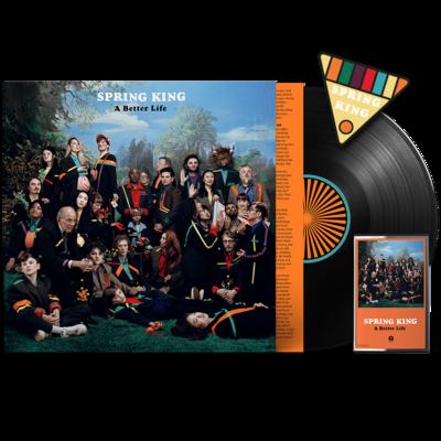 Spring King: A Better Life: Signed Vinyl, Signed Cassette & Patch Badge
