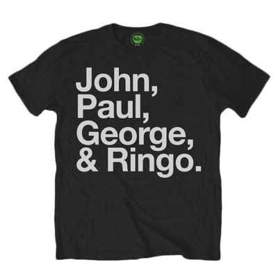 The Beatles: John, Paul, George, & Ringo. Mens Tee