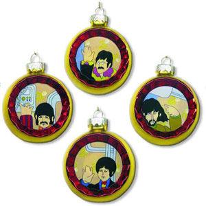 The Beatles: Yellow Submarine Reflector Glass Ornament Set