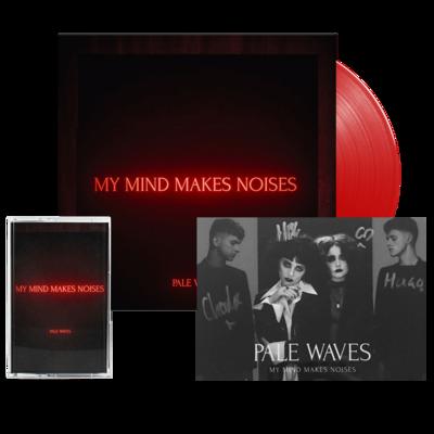 Pale Waves: My Mind Makes Noises Transparent Red LP + Cassette + Signed Art Card