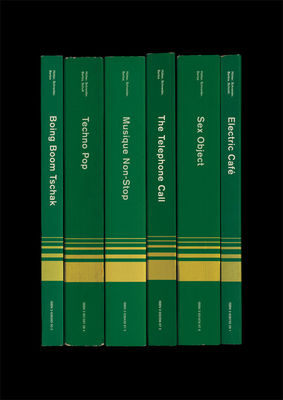 Kraftwerk: 'Electric Café/Techno Pop' Album As Books Art Print