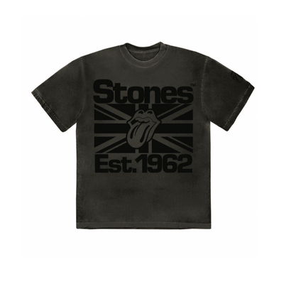 The Rolling Stones: Black on Black Union Jack Lick T-Shirt