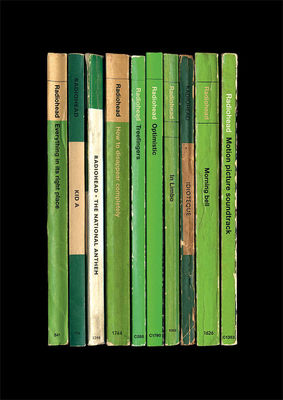 Radiohead: 'Kid A' Album As Books Art Print