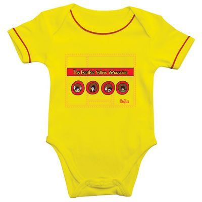 The Beatles: Yellow Submarine Portholes Baby Bodysuit Yellow/Red Trim