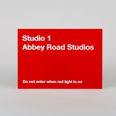 Abbey Road Studios: Studio One Replica Red Perspex Sign