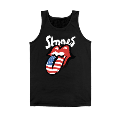 The Rolling Stones: No Filter Flag Tongue Black Ladies Tank Top