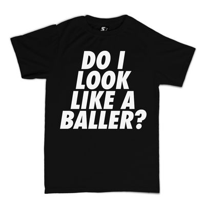 Meridian Dan: Do I Look Like a Baller? Black Glow in The Dark T-Shirt