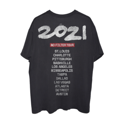 The Rolling Stones: No Filter 2021 USA Flag Tongue Washed T-Shirt