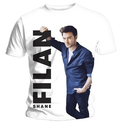 Shane Filan: Shane Filan Right Here White T-Shirt