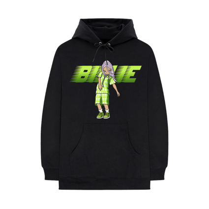 Billie Eilish: Racer Animation Black Hoodie