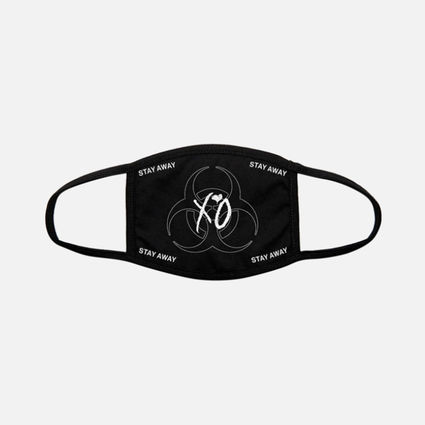 The Weeknd: XO QUARANTINE LOGO CLOTH FACE COVERING