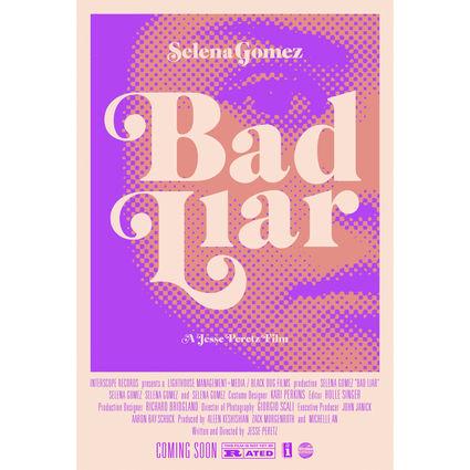 Selena Gomez : Bad Liar Movie Poster (Purple)