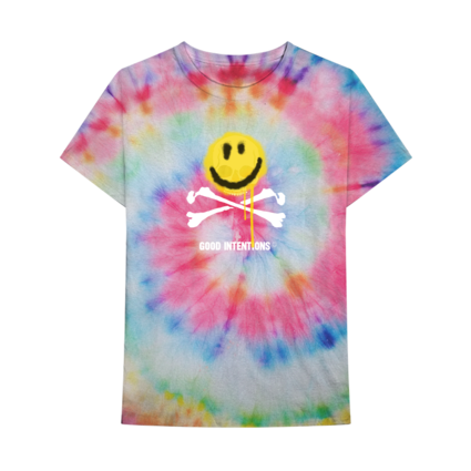 Nav: SMILE AND BONES TIE DYE TEE + DIGITAL ALBUM
