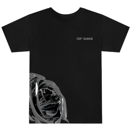 Pop Smoke: Rose Black T-Shirt