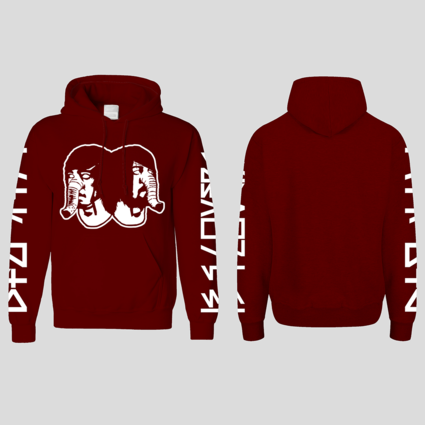 Death From Above 1979: DFA Logo Hoodie Burgundy