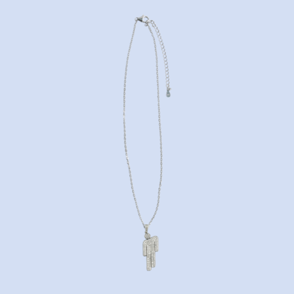 Billie Eilish: BLOHSH PENDANT JEWELED STERLING SILVER NECKLACE