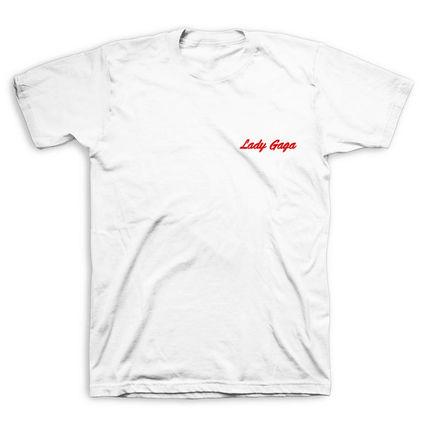 Lady Gaga: Script White T Shirt