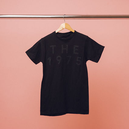 The 1975: Black on Black Pop Up T-Shirt
