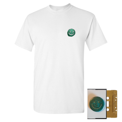 Mac DeMarco: Smiley Face White T-Shirt + Gold Cassette