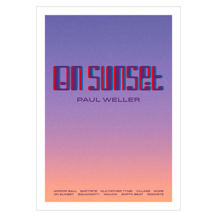 Paul Weller: Album Lithograph