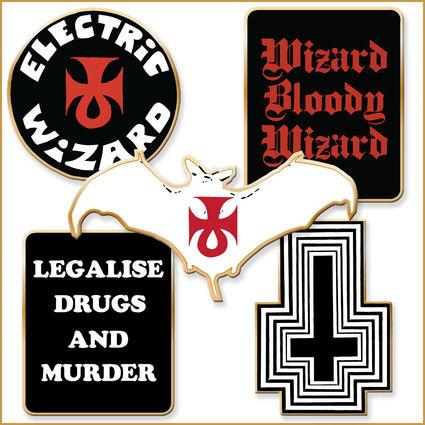 Electric Wizard: Enamel 5 Badge Set
