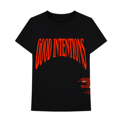 Nav: VLONE Good Intentions Black Tee