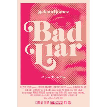 Selena Gomez : Bad Liar Movie Poster (Pink)