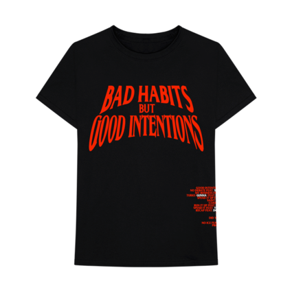 Nav: VLONE Bad Habits Black Tee