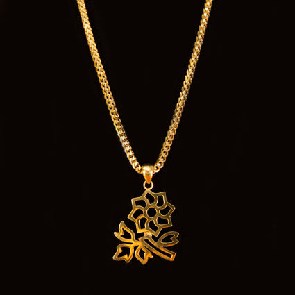 Jazz Cartier: JLF Gold Plated Flower Necklace