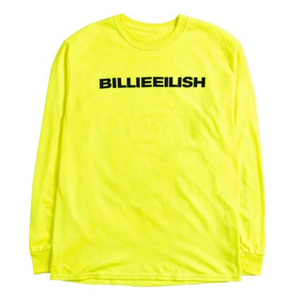 Billie Eilish: dont smile at me yellow longsleeve tee