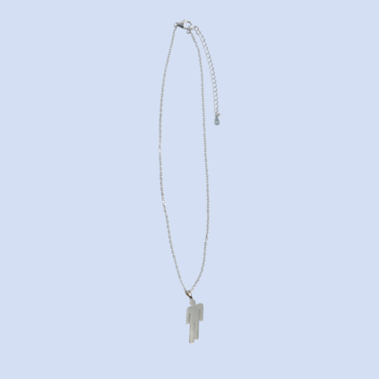 Billie Eilish: BLOHSH PENDANT STERLING SILVER NECKLACE