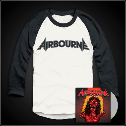 Airbourne: Logo Baseball Shirt & Ltd Edtn CD