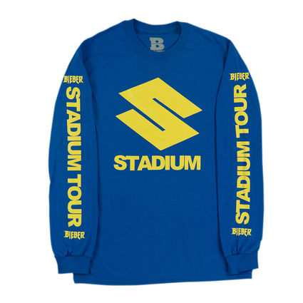 Justin Bieber: Stadium S Blue Long Sleeve