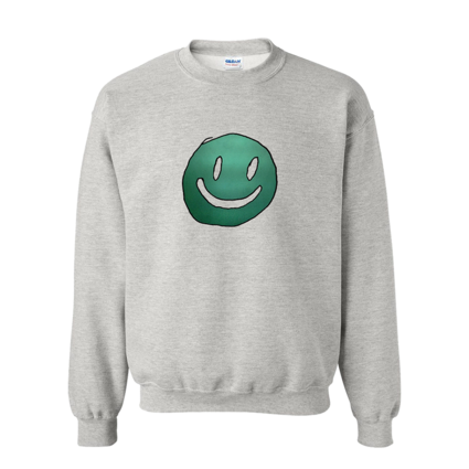 Mac DeMarco: Smiley Face Grey Crewneck