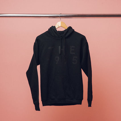 The 1975: Black on Black Pop Up Hoodie