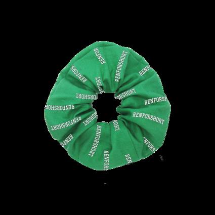 renforshort: renforshort green scrunchie