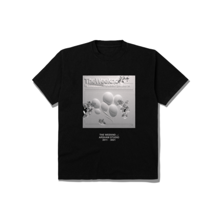 The Weeknd: DANIEL ARSHAM X THE WEEKND HOUSE OF BALLOONS ERODED COVER TEE